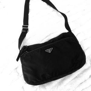 PRADA BAG - Black Nylon (shoulder or cross body)